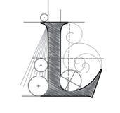 Letra L ilustración del vector
