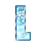 Letra L do alfabeto do inverno Imagem de Stock Royalty Free