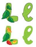 Letra L hojas Foto de archivo