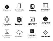 Letra L iconos del vector de los logotipos Imagenes de archivo