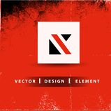 Letra Logo Design Business Concept moderno de K ilustração stock