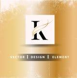 Letra Logo Design Concept de K Imagen de archivo