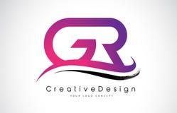 Letra Logo Design da GR G R Vetor moderno L das letras do ícone criativo Fotos de Stock Royalty Free
