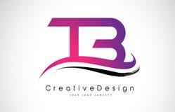 Letra Logo Design da TB T B Vetor moderno L das letras do ícone criativo Fotos de Stock Royalty Free