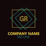 Letra Logo Design de GR Fotografía de archivo libre de regalías