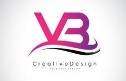 Letra Logo Design de VB V B Vetor moderno L das letras do ícone criativo Imagens de Stock Royalty Free