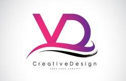 Letra Logo Design de VD V D Vetor moderno L das letras do ícone criativo Foto de Stock Royalty Free