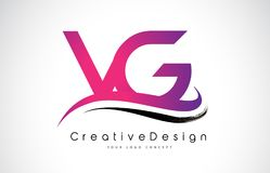 Letra Logo Design do VG V G Vetor moderno L das letras do ícone criativo Fotografia de Stock Royalty Free