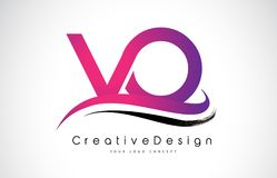 Letra Logo Design do Vo V O Vetor moderno L das letras do ícone criativo Imagens de Stock