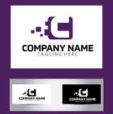 Letra Logo Design Vector Business Card de C stock de ilustración