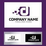 Letra Logo Design Vector Business Card de D Imagen de archivo
