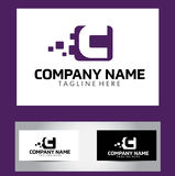 Letra Logo Design Vetora Business Card de C Imagem de Stock Royalty Free