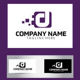 Letra Logo Design Vetora Business Card de D Imagem de Stock