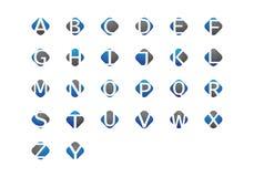 Letra Logo Template de Abjad Fotos de Stock