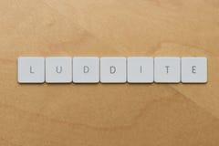 Letra-Luddite del teclado Imagenes de archivo