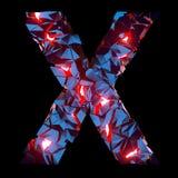 Letra luminosa X integrado por formas poligonales abstractas imagenes de archivo