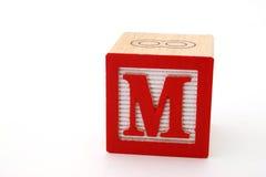 Letra m Foto de archivo libre de regalías
