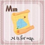Letra M ilustração royalty free