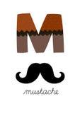 Letra M Imagem de Stock Royalty Free