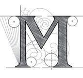 Letra M Fotografia de Stock Royalty Free
