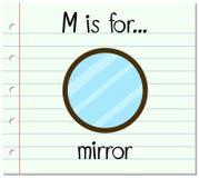 A letra M de Flashcard é para o espelho Foto de Stock