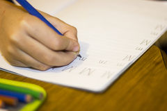 Letra M de los niños de Handwrite Fotografía de archivo