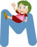 Letra M do alfabeto (menina) Imagem de Stock