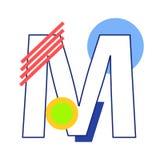 Letra M do vetor ilustração do vetor