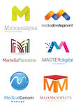 Letra M Logo Fotos de Stock Royalty Free