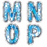 Letra M N O P da gema Foto de Stock Royalty Free