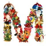 Letra M, para la decoración de la Navidad Fotos de archivo libres de regalías