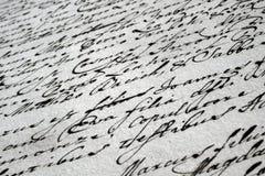 Letra manuscrita del vintage Fotos de archivo