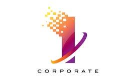 Letra mim arco-íris colorido Logo Design ilustração royalty free