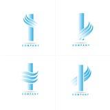 Letra mim logotipo Imagens de Stock Royalty Free