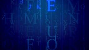 Letra multicamada com linhas e letras inglesas Foto de Stock