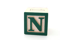 Letra n Imagens de Stock