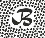 Letra negra B con los puntos negros en el fondo blanco Fotos de archivo