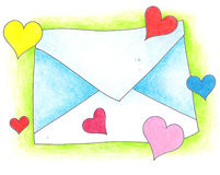 Letra no amor Imagens de Stock Royalty Free
