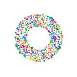 Letra o llenado de confeti denso de la acuarela encendido libre illustration