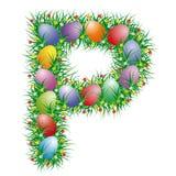 Letra P de Easter Foto de Stock Royalty Free