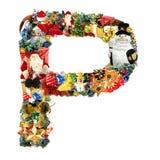 Letra P, para la decoración de la Navidad Imagen de archivo libre de regalías