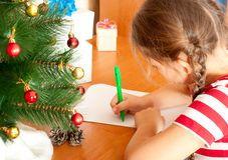 Letra a Papá Noel Fotos de archivo