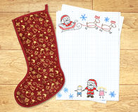 Letra a Papai Noel Fotografia de Stock