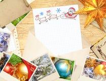 Letra a Papai Noel ilustração royalty free