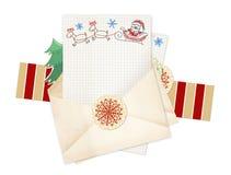 Letra a Papai Noel ilustração do vetor