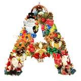 Letra A, para la decoración de la Navidad Imágenes de archivo libres de regalías