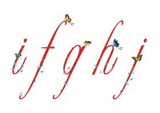 Letra pequena com borboletas 2 Fotografia de Stock