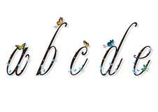 Letra pequena com borboletas e sombras lisas 1 Imagens de Stock