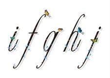Letra pequena com borboletas e sombras lisas 2 Foto de Stock Royalty Free