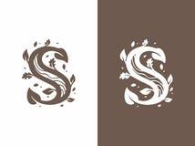 Letra profissional do logotipo s do sinal do vetor moderno Fotos de Stock Royalty Free